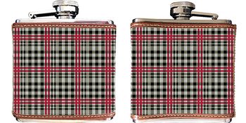 Classic Plaid Needlepoint Flask