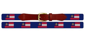Georgia Flag Needlepoint Belt