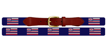 Hawaii Flag Needlepoint Belt