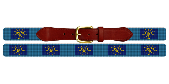 Indiana Flag Needlepoint Belt