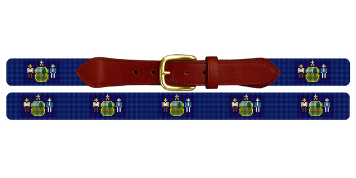Maine Flag Needlepoint Belt