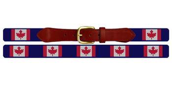 Canada Flag Needlepoint Belt