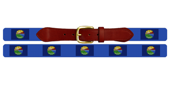 Montana Flag Needlepoint Belt