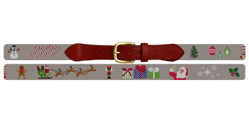 Christmas Needlepoint Belt