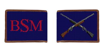 Crossed Shotguns Needlepoint Wallet