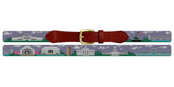 Washington DC Needlepoint Belt