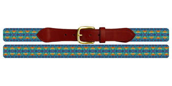 Native American Pattern Needlepoint Belt