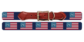 Spirit of 76 Needlepoint Dog Collar