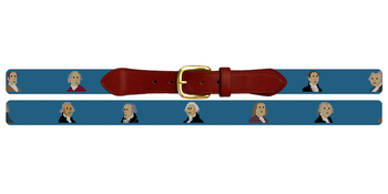 Founding Fathers Needlepoint Belt