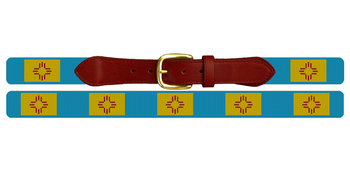 New Mexico Flag Needlepoint Belt