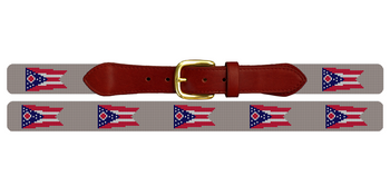 Ohio Flag Needlepoint Belt