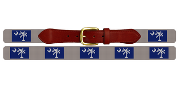 South Carolina Flag Needlepoint Belt