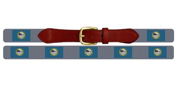 South Dakota Flag Needlepoint Belt