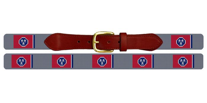 Tennessee Flag Needlepoint Belt