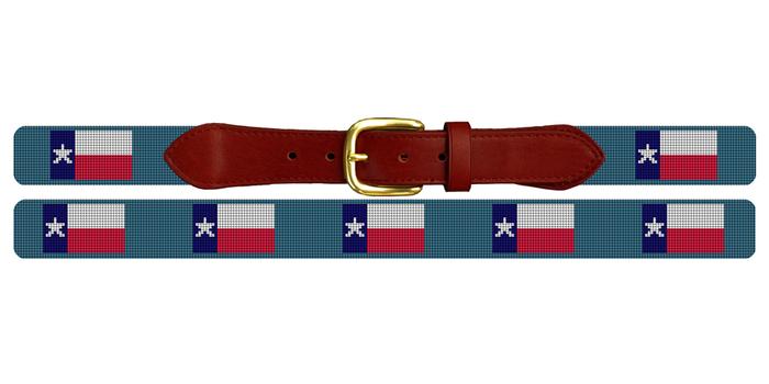 Texas Flag Needlepoint Belt
