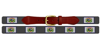 West Virginia Flag Needlepoint Belt