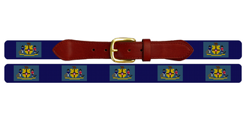 Wisconsin Flag Needlepoint Belt