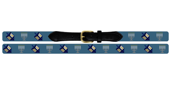 Hanukkah Needlepoint Belt