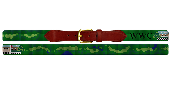Westmoreland Country Club Golf Course Needlepoint Belt