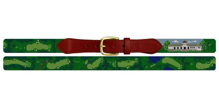 Hartford Golf Club Needlepoint Belt