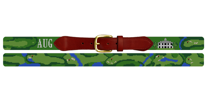 Custom Golf Course Needlepoint Belt