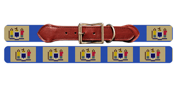 New Jersey Flag Needlepoint Dog Collar
