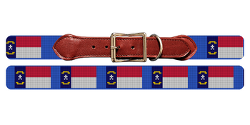 North Carolina Flag Needlepoint Dog Collar