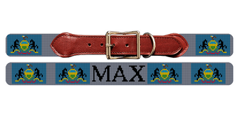 Pennsylvania Flag Needlepoint Dog Collar