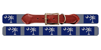 South Carolina Flag Needlepoint Dog Collar