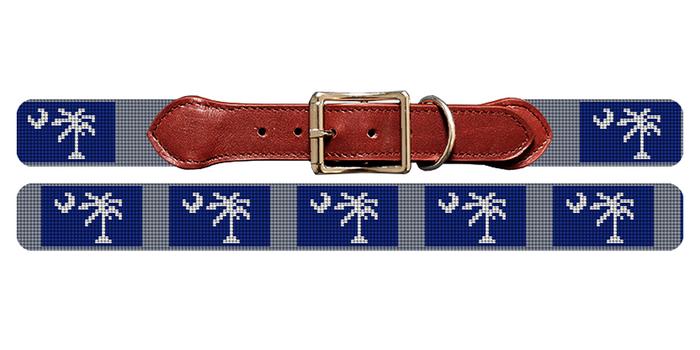 South Carolina Flag Needlepoint Dog Collar