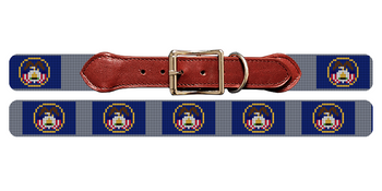 Utah Flag Needlepoint Dog Collar