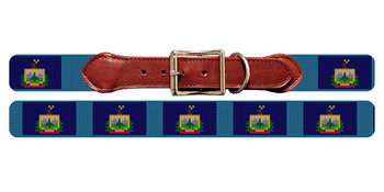 Vermont Flag Needlepoint Dog Collar