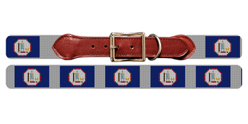 Virginia Flag Needlepoint Dog Collar