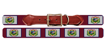 West Virginia Flag Needlepoint Dog Collar