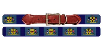 Wisconsin Flag Needlepoint Dog Collar