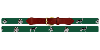 Husky Needlepoint Belt