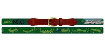 Navesink Golf Course Needlepoint Belt