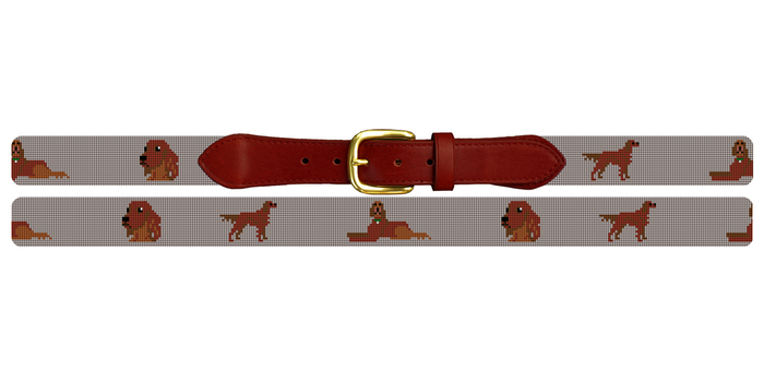 Irish Setter Needlepoint Belt
