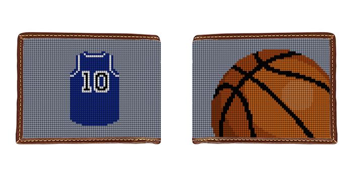 Basketball Needlepoint Wallet