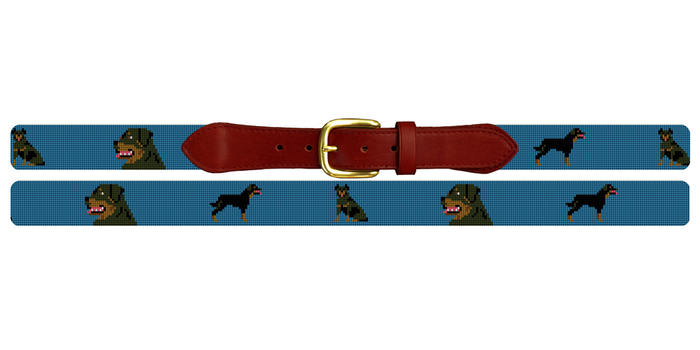 Rottweiler Needlepoint Belt