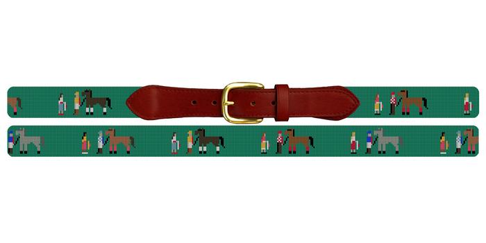 Walk Over Derby Needlepoint Belt