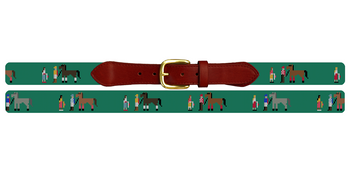 Walk Over Derby Needlepoint Belt