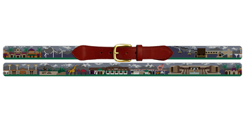 Palm Desert Needlepoint Belt
