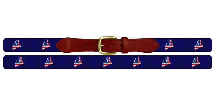 Maine State Needlepoint Belt