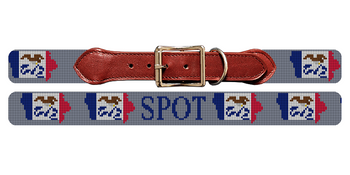 Iowa State Needlepoint Dog Collar