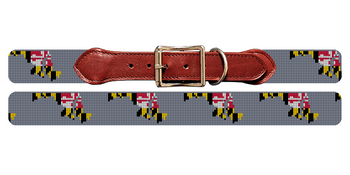 Maryland State Needlepoint Dog Collar