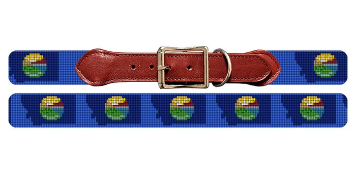 Montana State Needlepoint Dog Collar