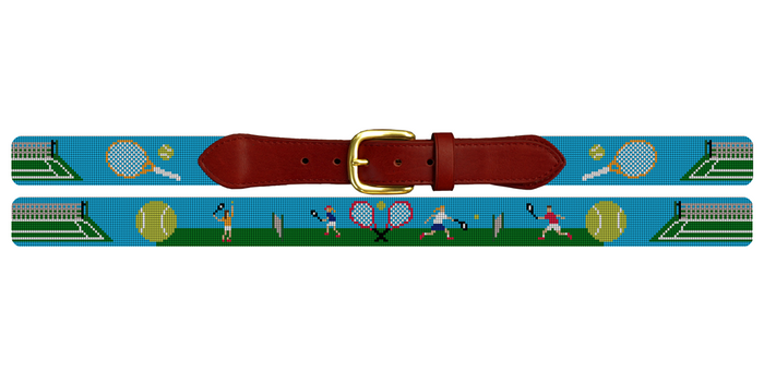 Tennis Needlepoint Belt
