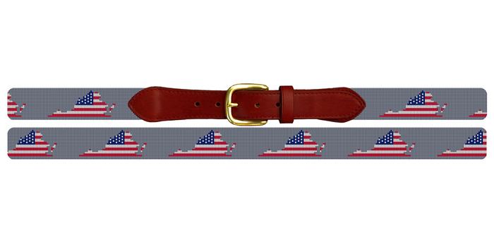 Virginia State Needlepoint Belt