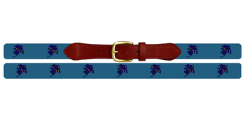 Alaska State Needlepoint Belt